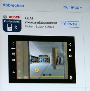 Bosch-App zum GLM 100 C im App-Store
