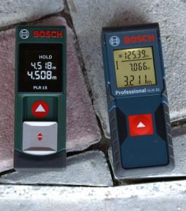 Bosch GLM 30 & PLR 15 auf Pflastersteinen