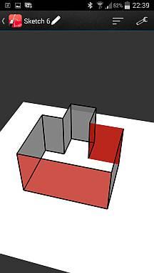 3D-Modell mit vermassbaren Wänden als Bilder oder als weitere Skizzen ganz einfach erstellt aus dem Grundriss
