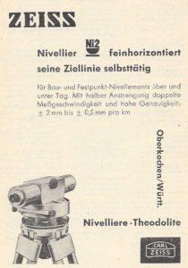 Inserat von 1958 für das Zeiss Ni2