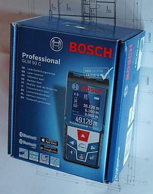 Verpackung des Bosch GLM 50 C