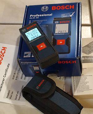 Für den besten Beitrag: Unser Bosch GLM 30 Testgerät
