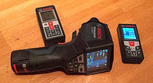 Bosch GLM 50 und 100 C sowie Thermodetektor GIS 1000 C Professional