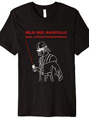 Held der Baustelle mit Entfernungsmesser Shirt