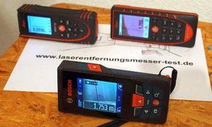 Bosch GLM 120 C und Leicas Disto D510 und Disto X3