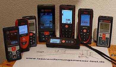 Viele Entfernungsmesser im Test